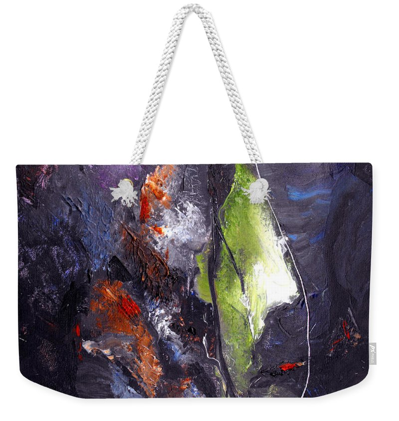 Abstract Weekender Tote Bag featuring the painting Irreconcilable Differences by Ruth Palmer