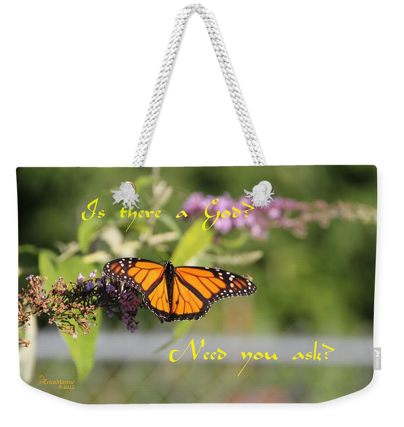 Insect Weekender Tote Bag featuring the photograph Is There A God by Ericamaxine Price