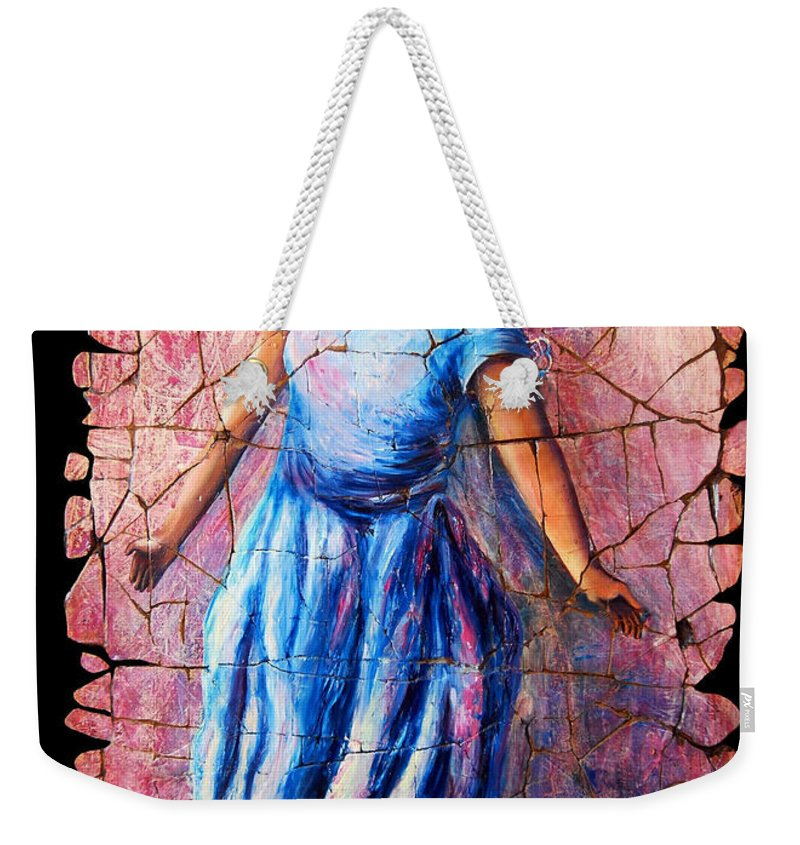 Isadora Duncan Weekender Tote Bag featuring the painting Isadora Duncan - 2 by OLena Art Brand