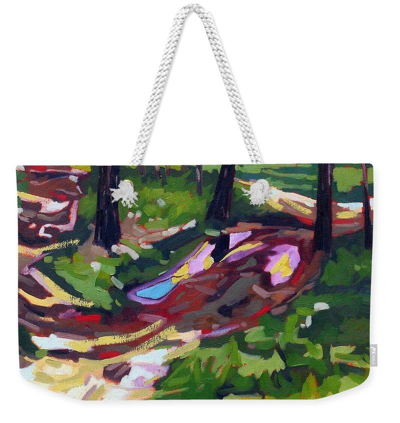 Isaiah Weekender Tote Bag featuring the painting Isaiah's Lane by Phil Chadwick