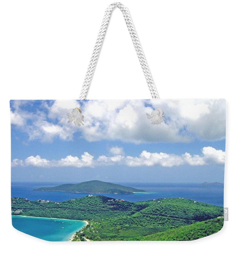 St. Thomas Weekender Tote Bag featuring the photograph Island Paradise by Gary Wonning