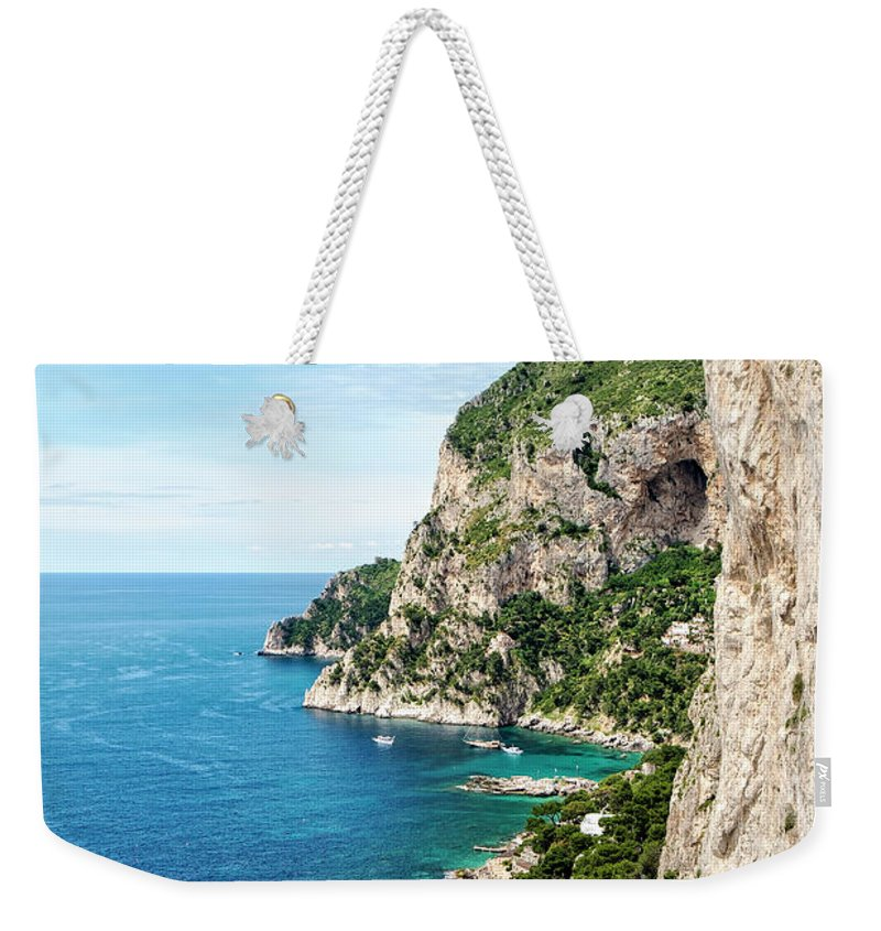 Isle Of Capri Weekender Tote Bag featuring the photograph Isle Of Capri by Catherine Reading