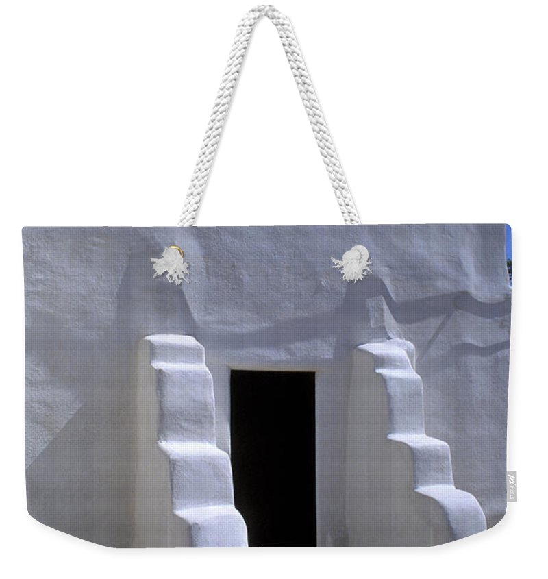 Adobe Weekender Tote Bag featuring the photograph Isleta by Jerry McElroy
