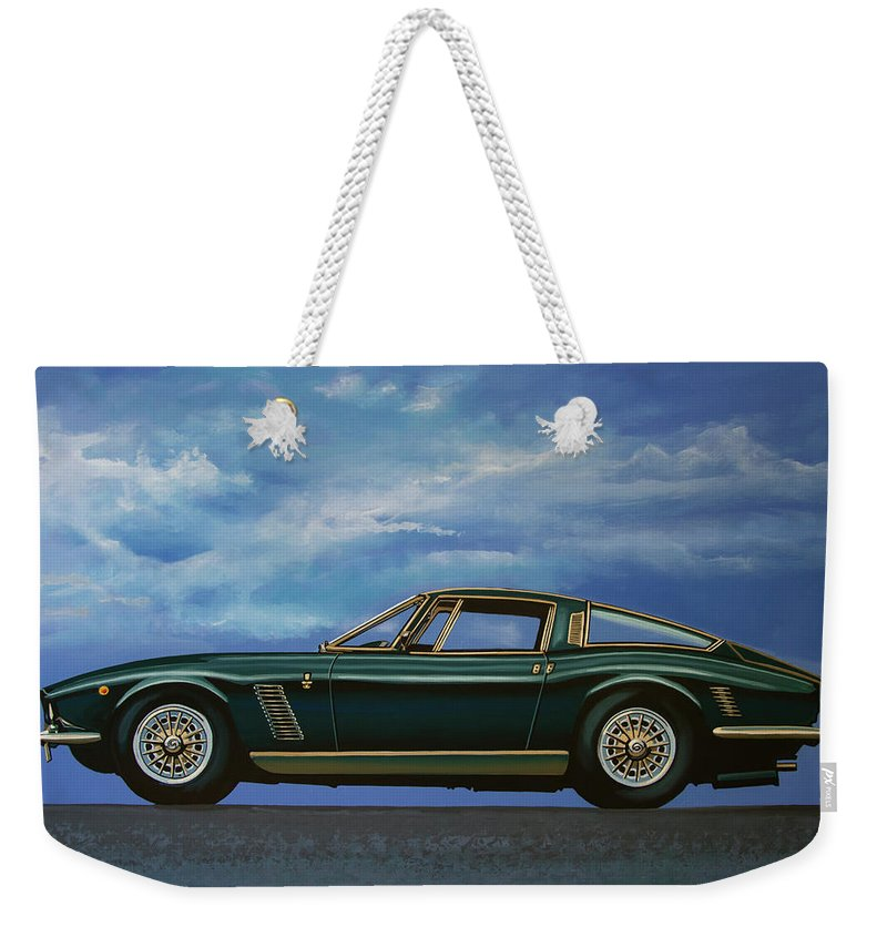 Iso Grifo Weekender Tote Bag featuring the painting Iso Grifo Gl 1963 Painting by Paul Meijering