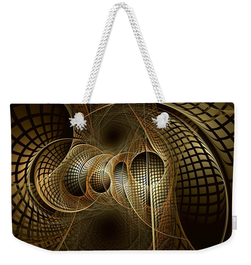 Abstract Weekender Tote Bag featuring the digital art Issuance Of The Metropole by Casey Kotas