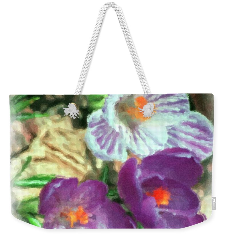 Digital Photography Weekender Tote Bag featuring the photograph Ist flowers in the garden 2010 by David Lane