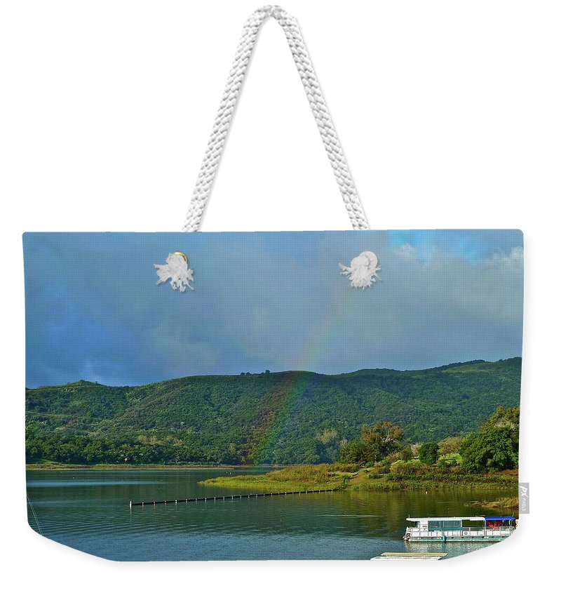 Lake Weekender Tote Bag featuring the photograph It Does Not Get Any Better by Diana Hatcher