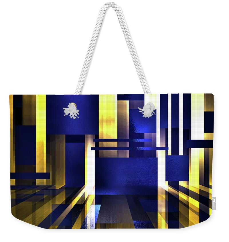 Abstract Weekender Tote Bag featuring the digital art Where The Light Exists by Another Dimension Art