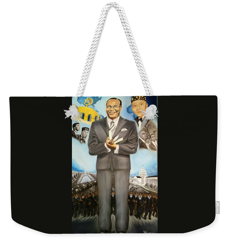 Nation Of Islam Weekender Tote Bag featuring the painting It Takes A Nation by Vell Thomas