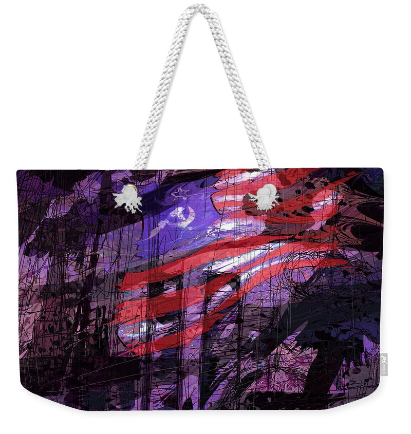 Political Weekender Tote Bag featuring the digital art It Was Only A Dream . . . by Rachel Christine Nowicki