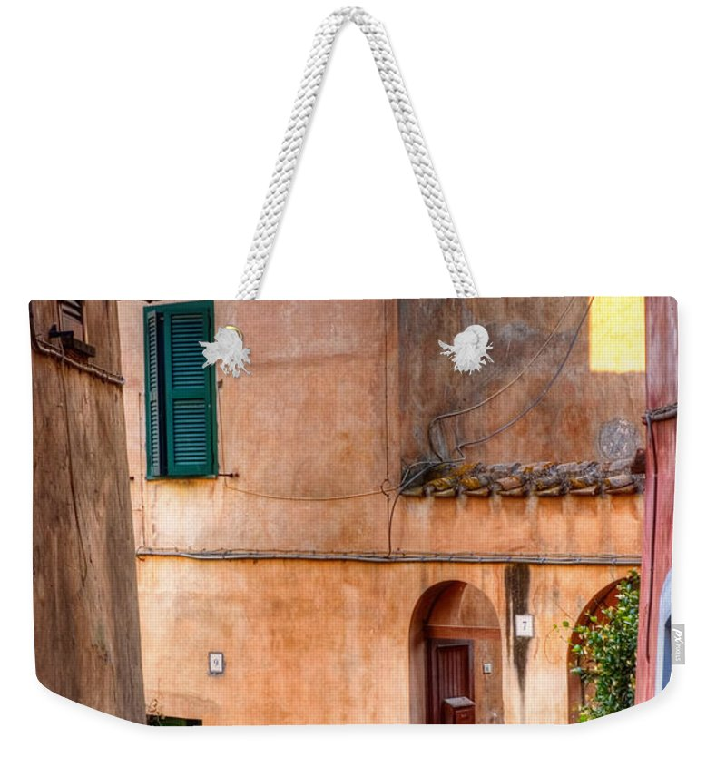 Old Weekender Tote Bag featuring the photograph Italian Alley by Silvia Ganora