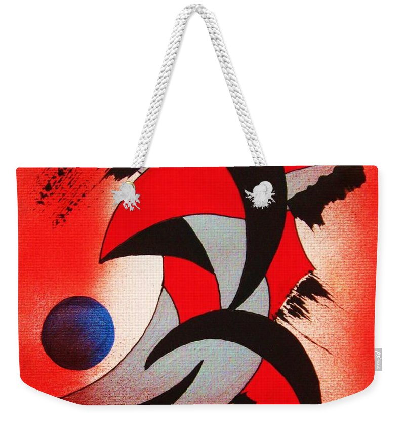 Abstract Weekender Tote Bag featuring the painting Ito-kina Doryoku by Roberto Prusso