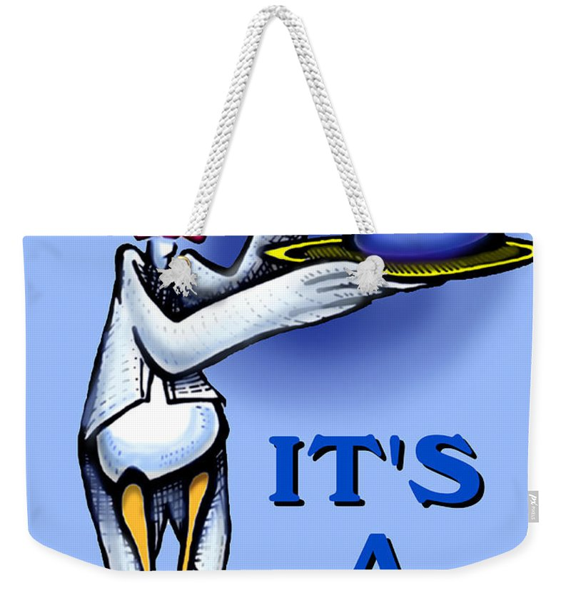 Baby Weekender Tote Bag featuring the greeting card It's A Boy by Kevin Middleton