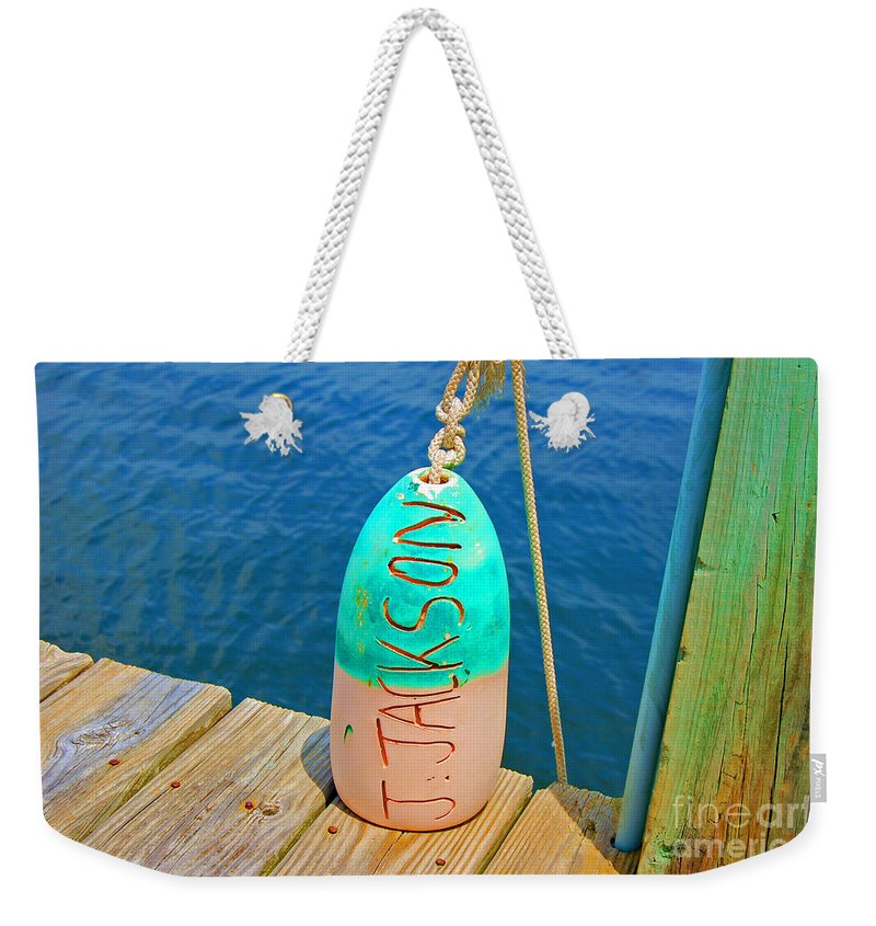 Water Weekender Tote Bag featuring the photograph Its a Buoy by Debbi Granruth