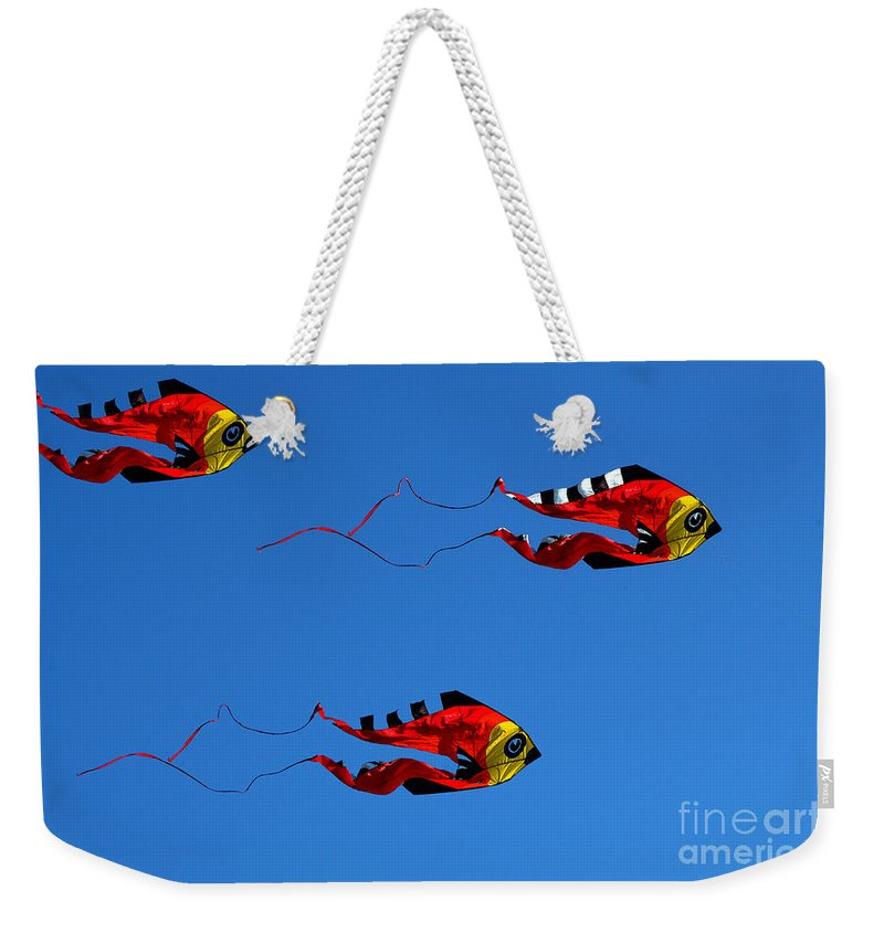 Clay Weekender Tote Bag featuring the photograph It's A Kite Kind Of Day by Clayton Bruster