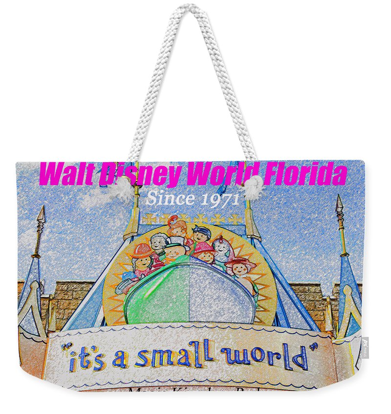 It's A Small World Weekender Tote Bag featuring the painting It's A Small World Poster Art by David Lee Thompson