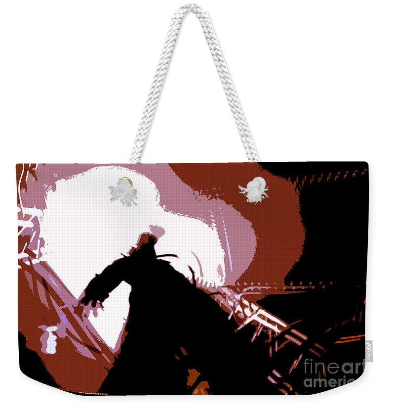 Monster Weekender Tote Bag featuring the digital art Its Alive by David Lee Thompson