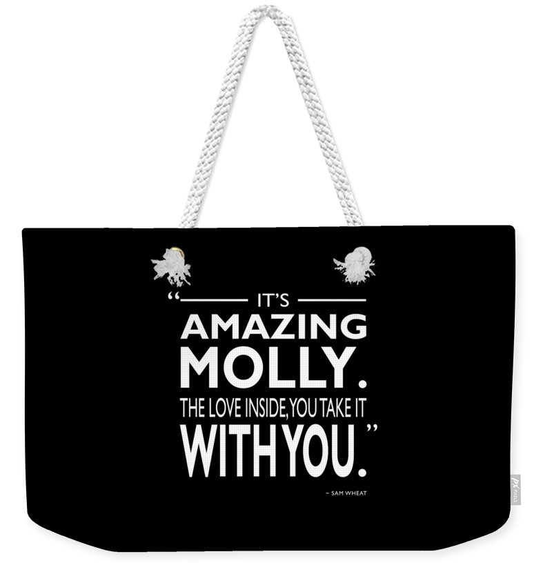Ghost Weekender Tote Bag featuring the photograph Its Amazing Molly by Mark Rogan