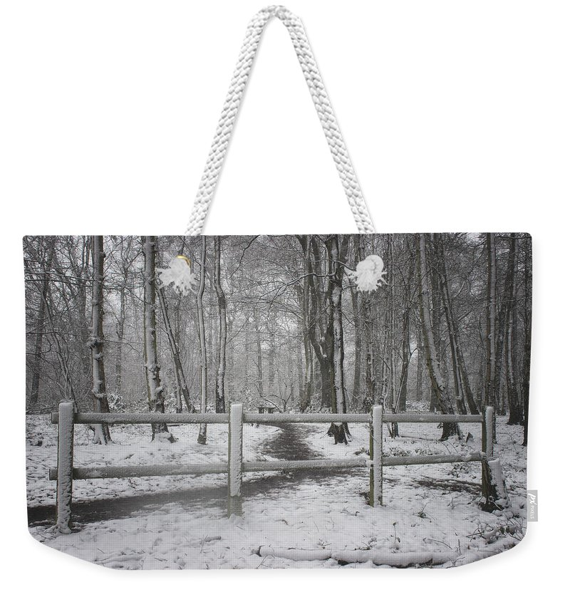 Snow Weekender Tote Bag featuring the photograph Its Cold Outside by Martin Newman