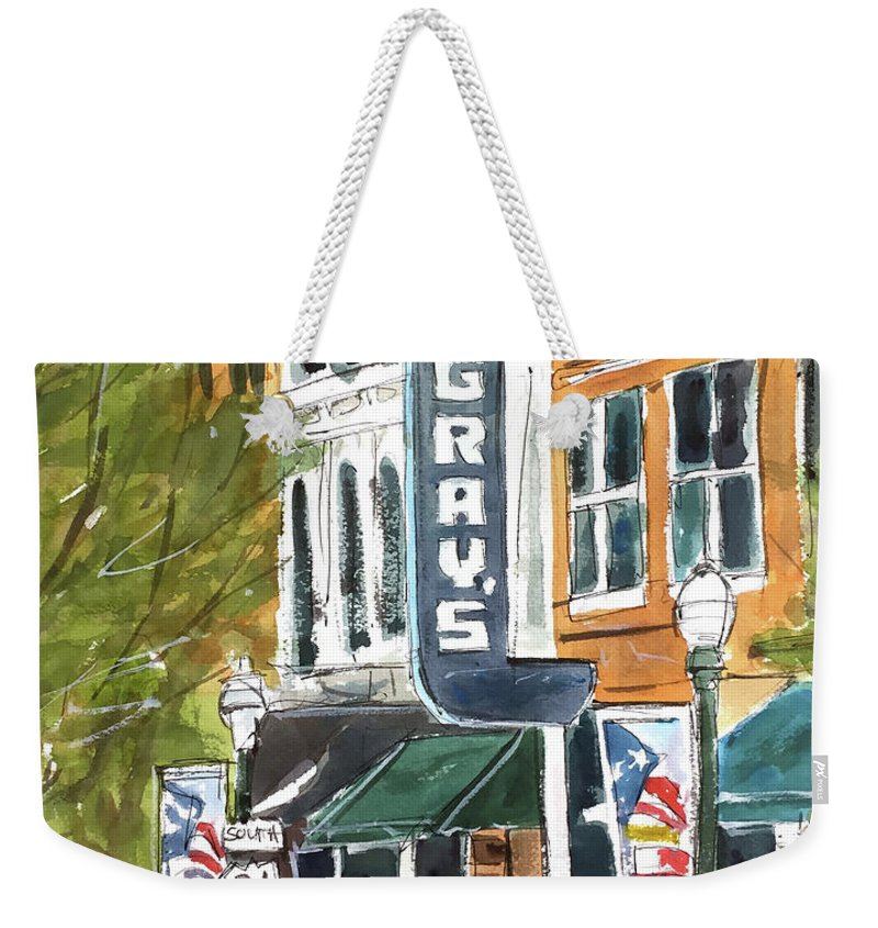 Franklin Weekender Tote Bag featuring the painting Its Friday In Franklin by Tim Ross