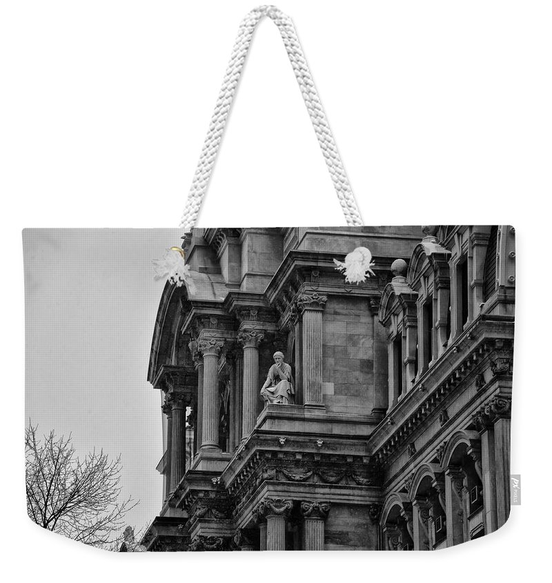 It's In The Details - Philadelphia City Hall Weekender Tote Bag featuring the photograph It's In The Details - Philadelphia City Hall by Bill Cannon