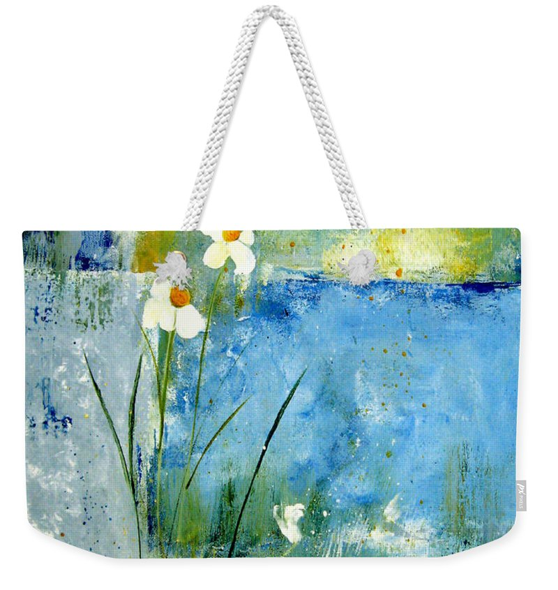 Abstract Weekender Tote Bag featuring the painting It's Just You And Me by Ruth Palmer