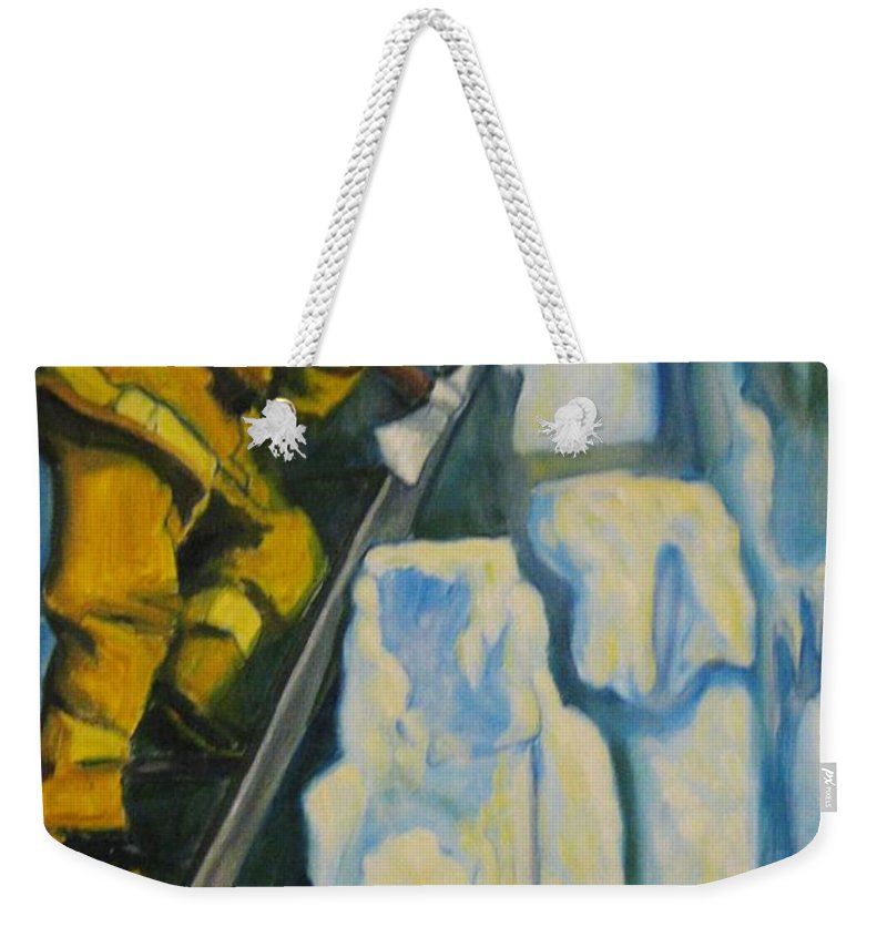 Firefighters Weekender Tote Bag featuring the painting Its Not Over Till Its Over by John Malone