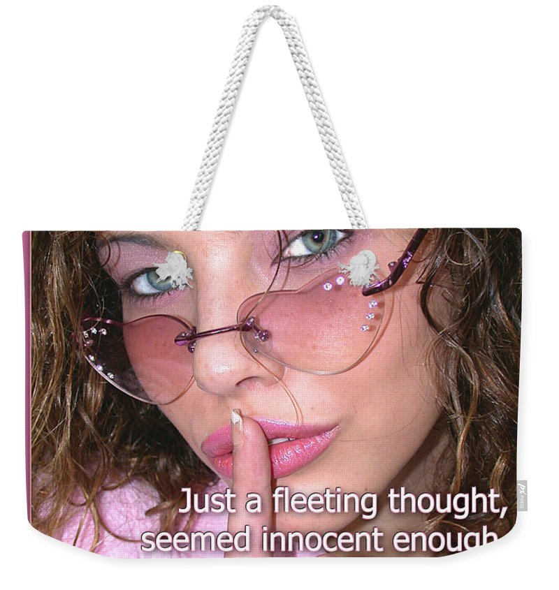 Clay Weekender Tote Bag featuring the photograph Its Our Secret by Clayton Bruster