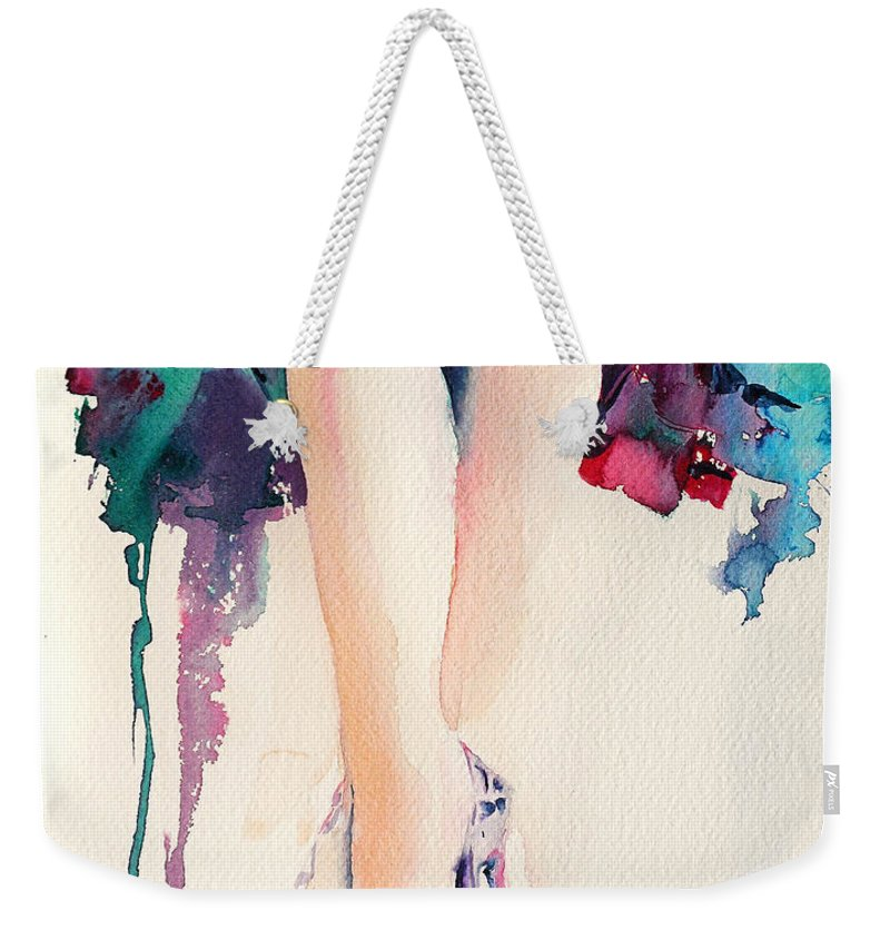 Legs Weekender Tote Bag featuring the painting It's Party Time by Stephie Butler