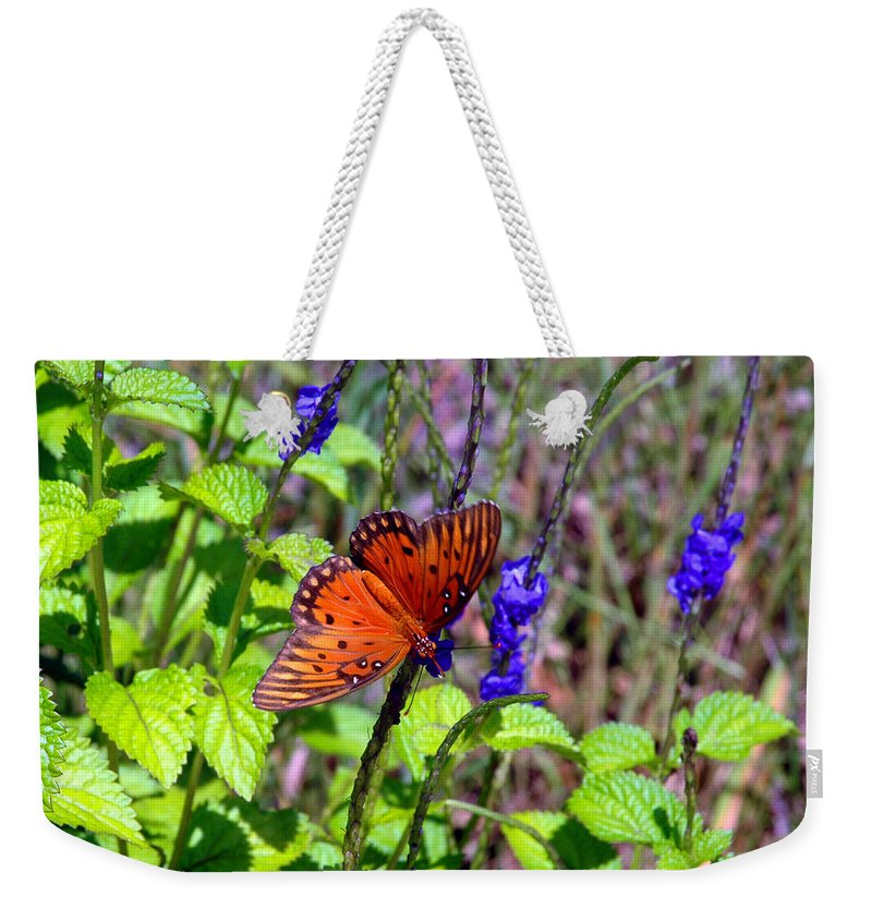Butterfly Weekender Tote Bag featuring the photograph Its Summer by Susanne Van Hulst