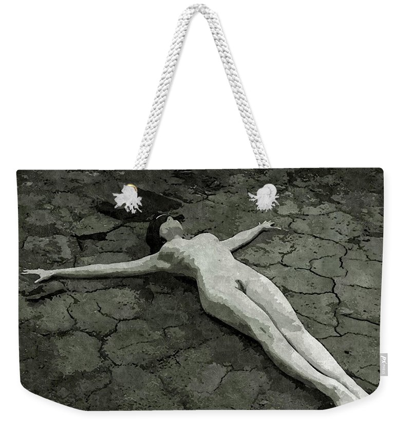 Bdsm Weekender Tote Bag featuring the painting It's The No-man's Land by BDSM love