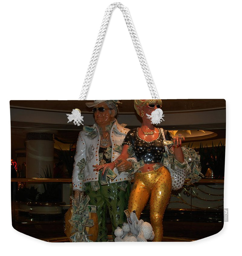 Its Vegas Baby Weekender Tote Bag featuring the photograph Its Vegas Baby by Susanne Van Hulst