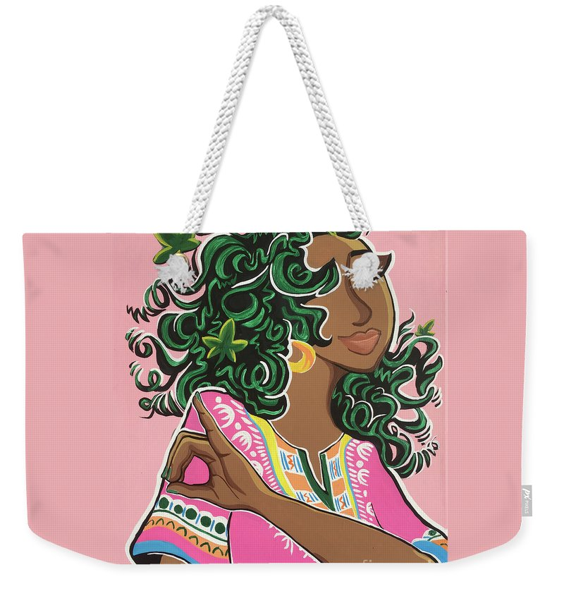 Ivy Weekender Tote Bag featuring the painting Ivy And Dashiki by Alisha Lewis