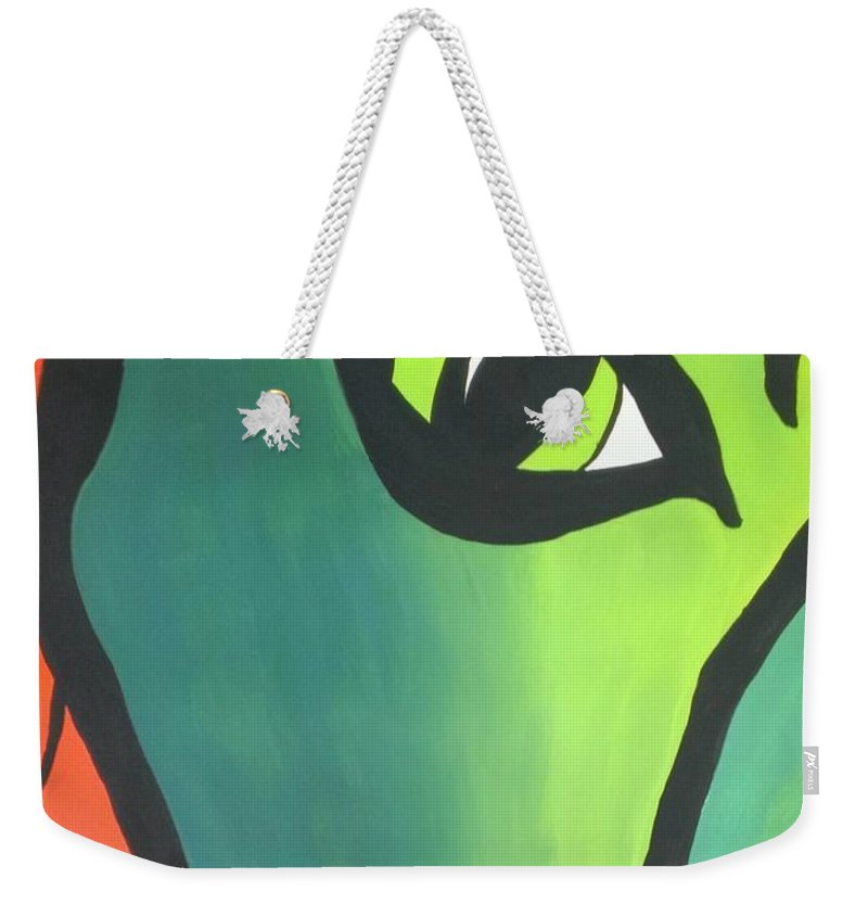 Ivy Weekender Tote Bag featuring the painting Ivy by LKB Art and Photography