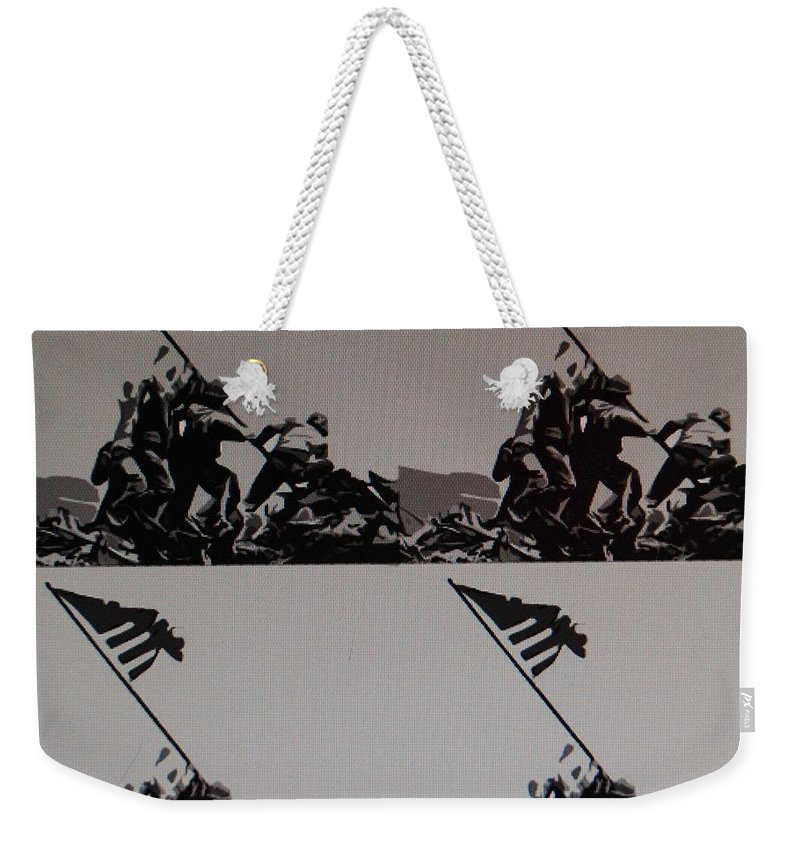 Pop Art Weekender Tote Bag featuring the photograph Iwo Jima by Rob Hans