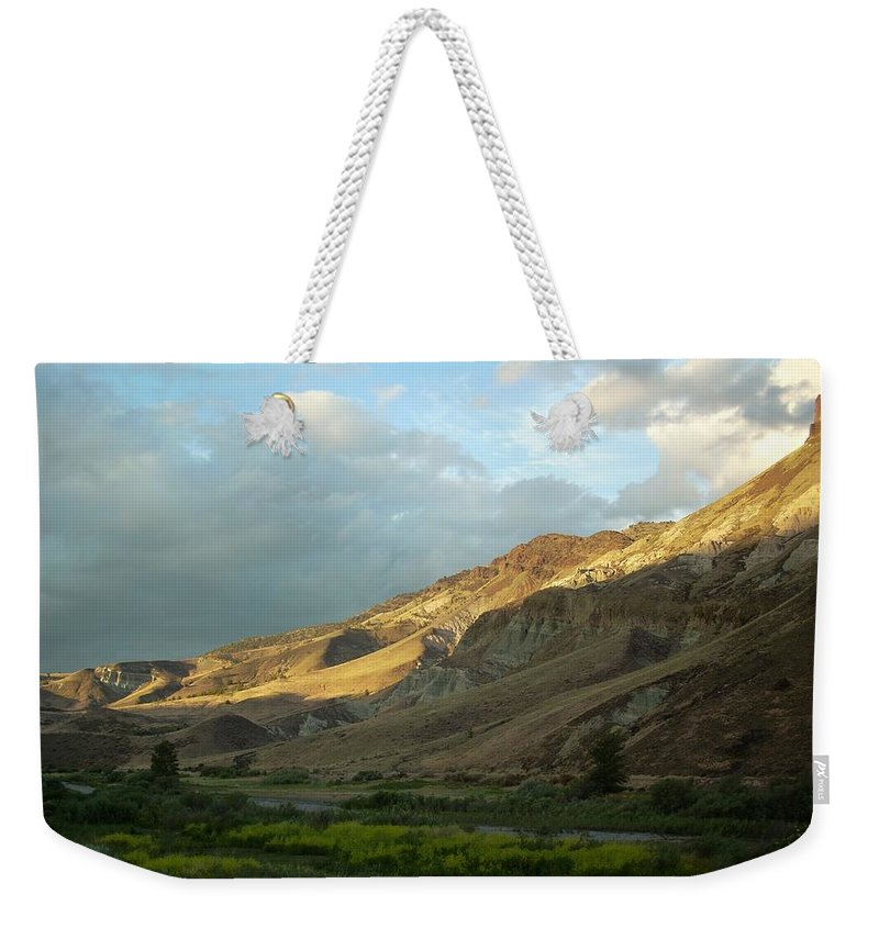 Sunset Weekender Tote Bag featuring the photograph J D Sunset by Sara Stevenson