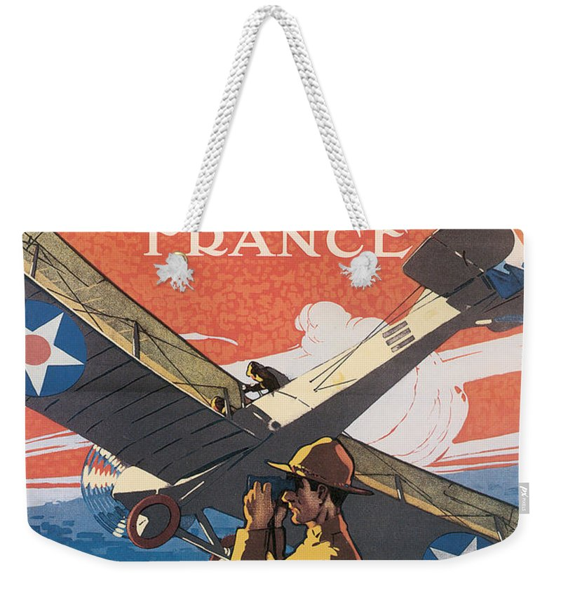 Join The Air Service And Serve In France Weekender Tote Bag featuring the digital art Join The Air Service by Define Studio