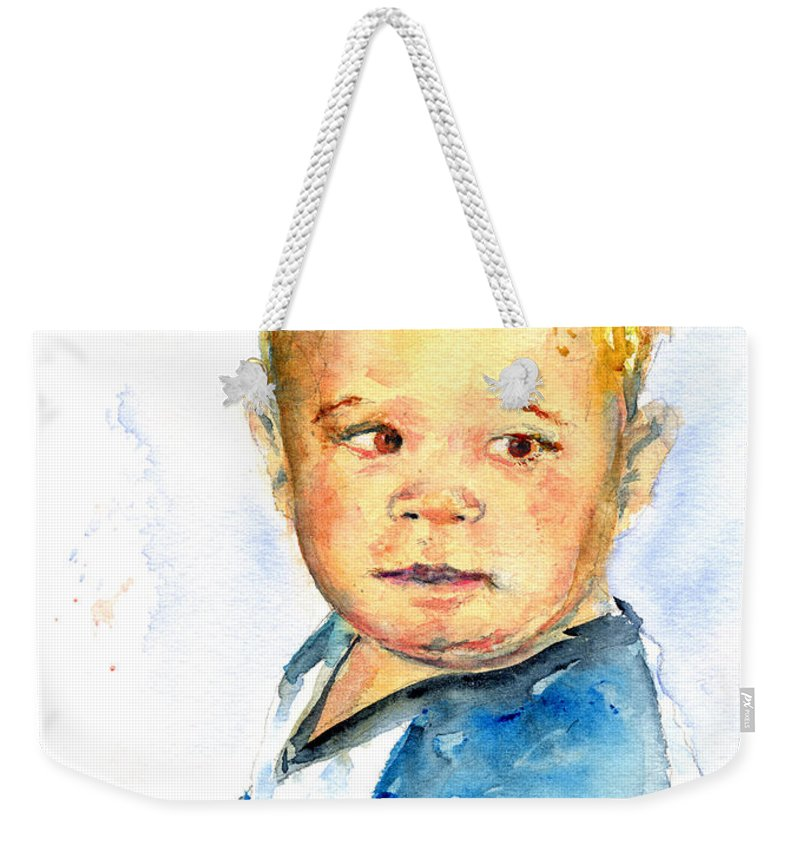 Portrait Weekender Tote Bag featuring the painting Jack by John D Benson