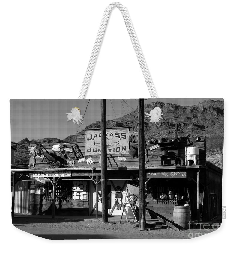Arizona Weekender Tote Bag featuring the photograph Jackass Junction by David Lee Thompson