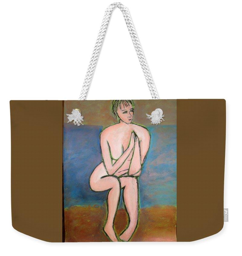 Figure Weekender Tote Bag featuring the painting Jackie by Tamara Savchenko