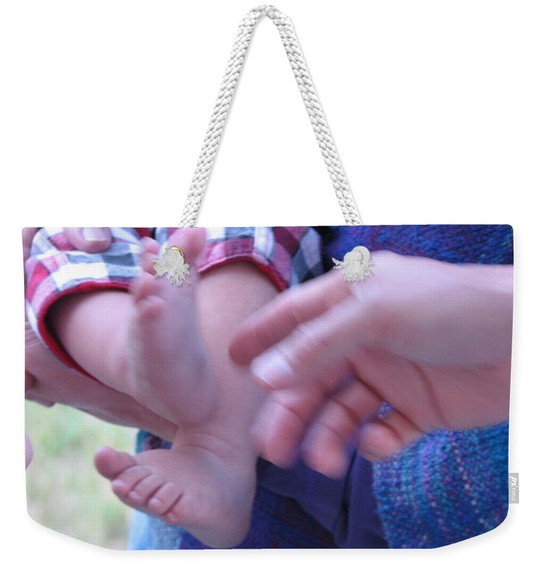 Feet Weekender Tote Bag featuring the photograph Jack's Feet by Kelly Mezzapelle