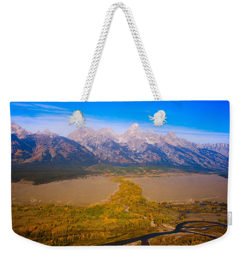 Tetons Weekender Tote Bag featuring the photograph Jackson Hole Wy Tetons National Park Views by James BO Insogna
