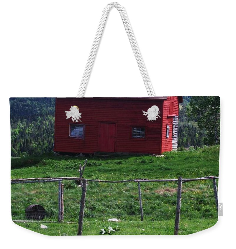 Photograph Newfoundland Jackson Cove Boat Grass Weekender Tote Bag featuring the photograph Jackson's Cove by Seon-Jeong Kim