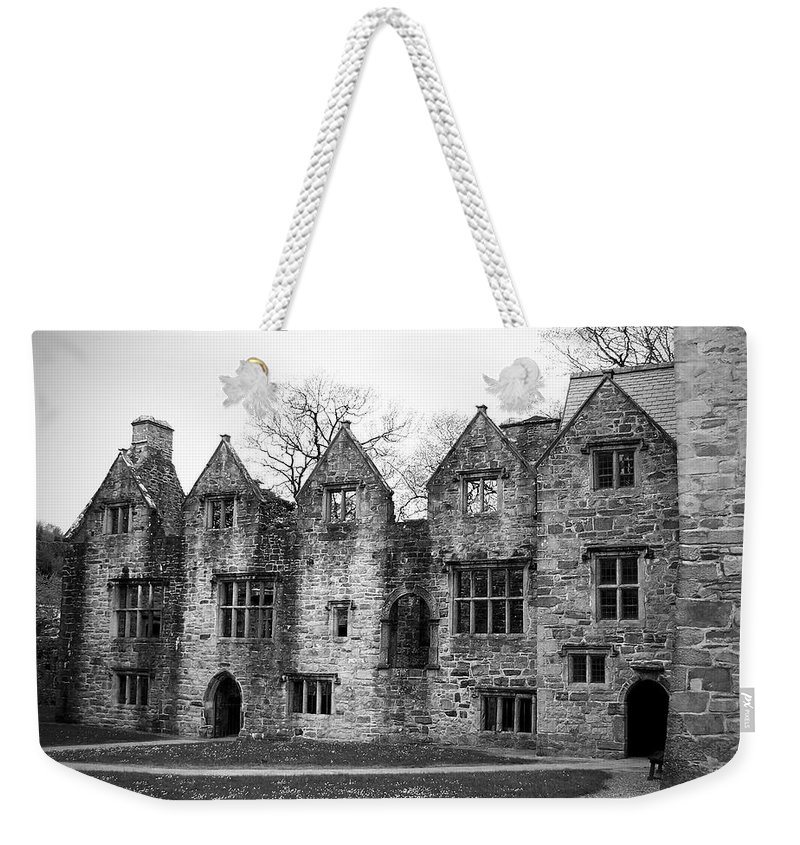 Irish Weekender Tote Bag featuring the photograph Jacobean Wing At Donegal Castle Ireland by Teresa Mucha