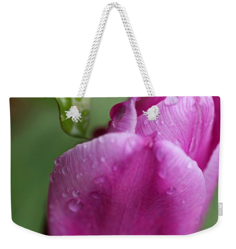 Tulip Weekender Tote Bag featuring the photograph Jaded Thriller by Michiale Schneider