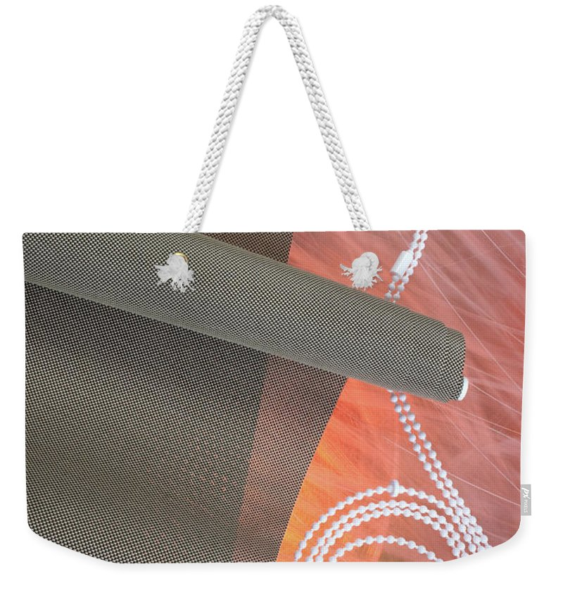 Abstract Weekender Tote Bag featuring the pyrography Jalousie #0008 by Andrey Godyaykin