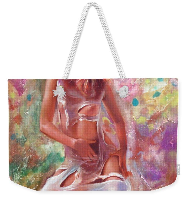 Ignatenko Weekender Tote Bag featuring the painting Jam by Sergey Ignatenko