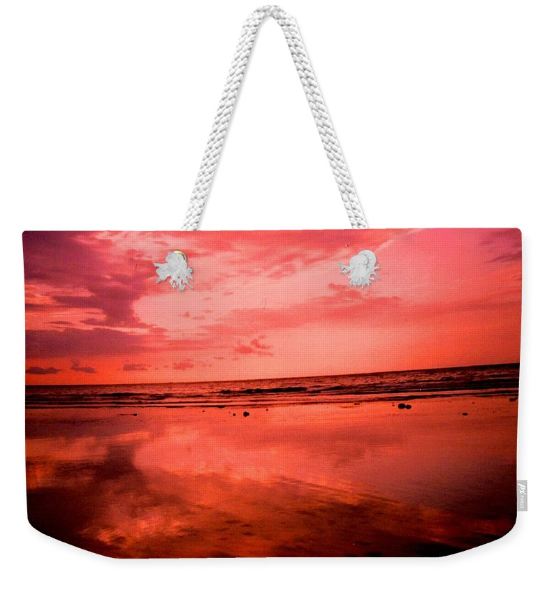 Sunset Weekender Tote Bag featuring the photograph Jamaica Sunset by Ian MacDonald