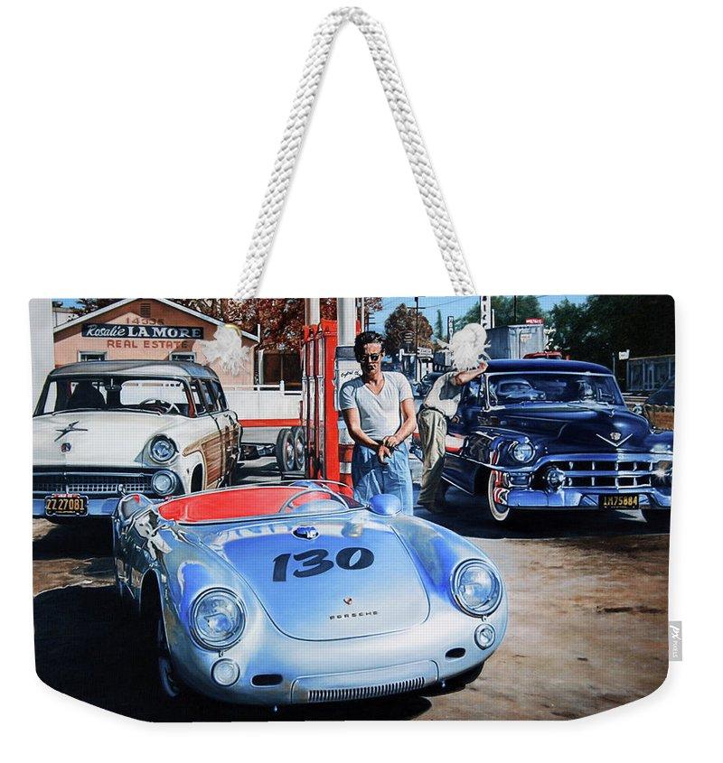 Porsche 550 Weekender Tote Bags
