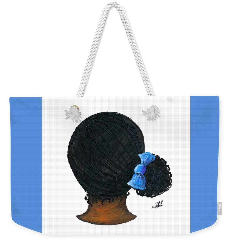 Naturally Me Kidz Weekender Tote Bag featuring the painting Jamie by Sonja Griffin Evans